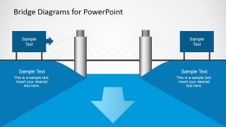 PPT Template with Suspension Bridge Diagram Graphic