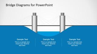 2D Suspension Bridge Graphic for PowerPoint