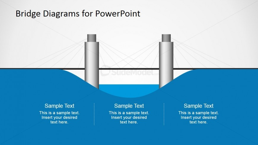 2D Suspension Bridge Graphic for PowerPoint