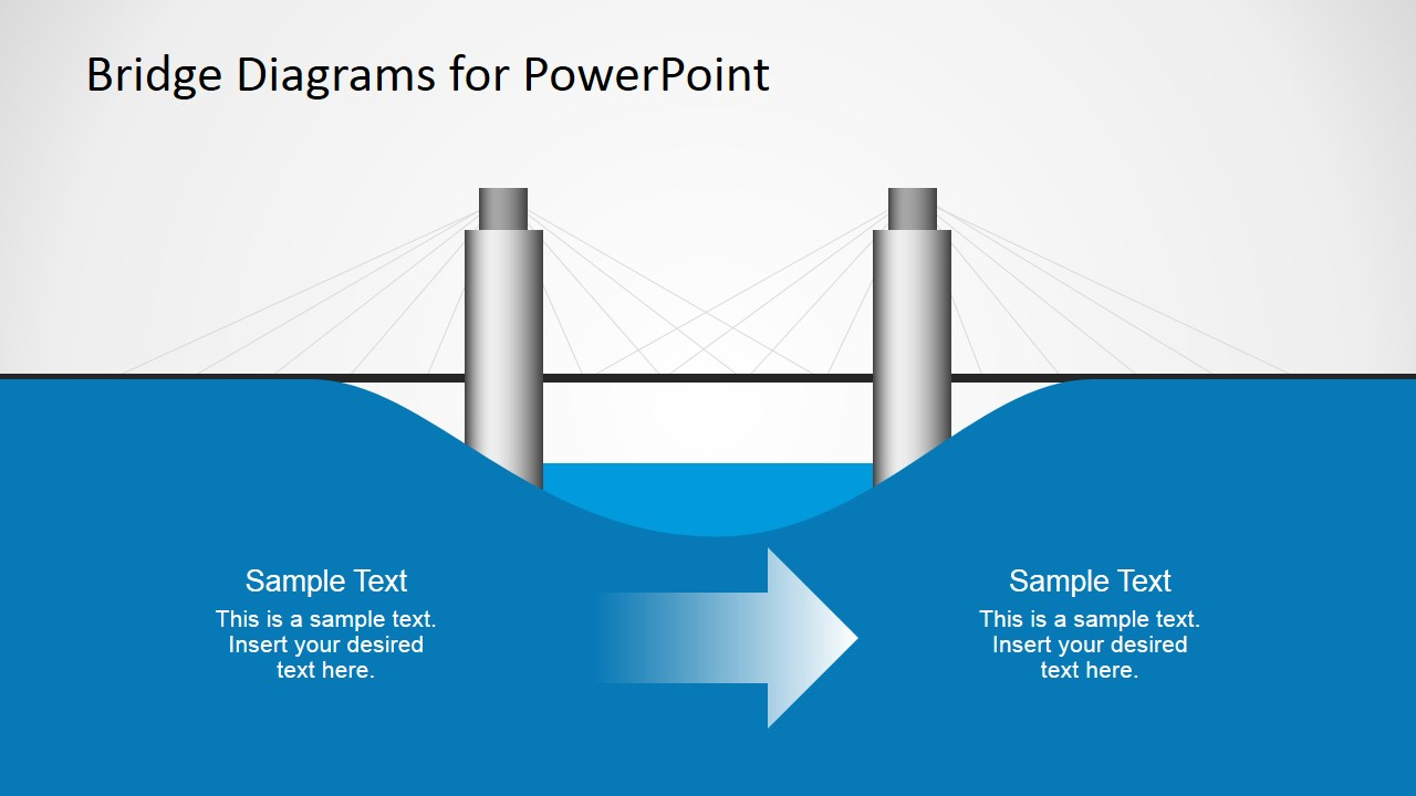 2d bridge diagrams template for powerpoint slidemodel ccuart Choice Image