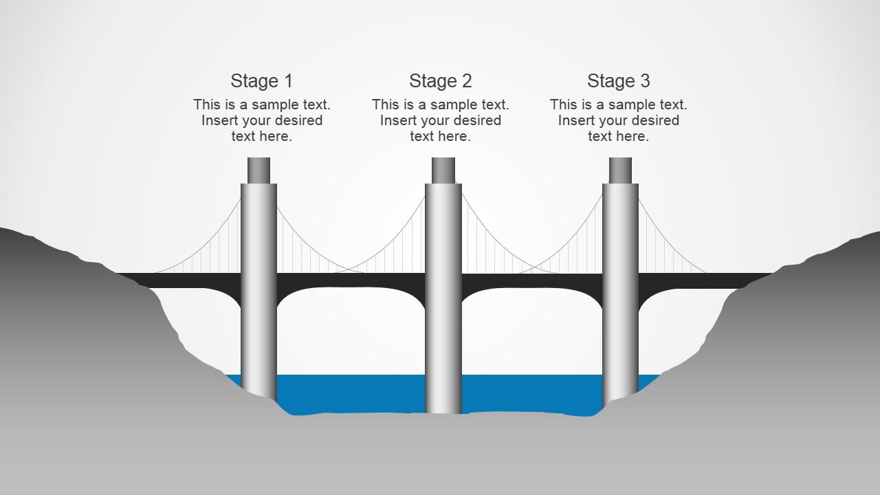 Chain bridge powerpoint diagrams slidemodel chain bridge powerpoint diagrams ccuart Gallery