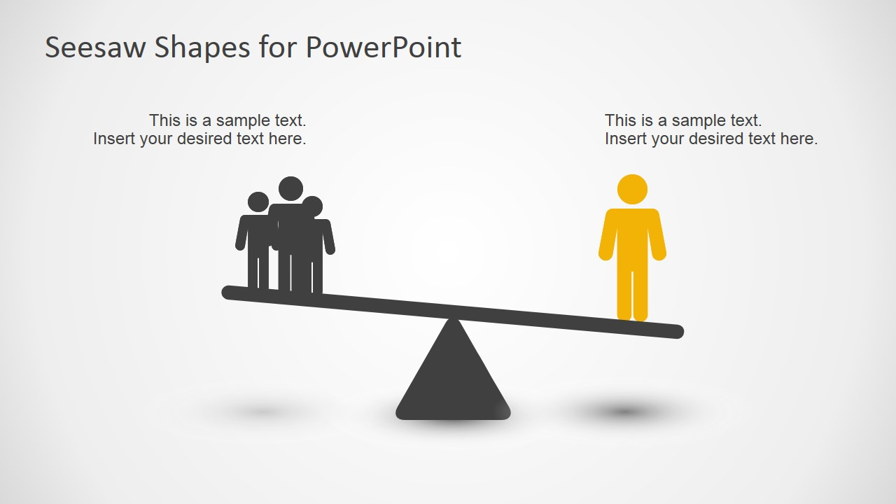 Seesaw Shape Diagrams For Powerpoint Slidemodel