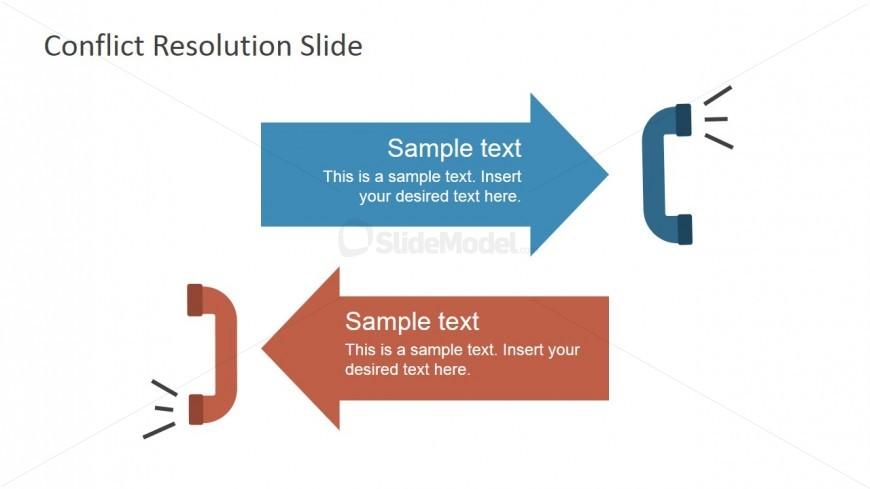 6922 01 opposite handsets illustration 3 slidemodel for Conflict of interest management plan template