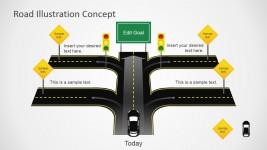 Road Cross Slide Design for PowerPoint