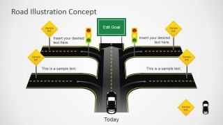 Road Cross Slide Design for PowerPoint
