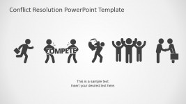 PowerPoint Icons Featuring Conflict Resolution