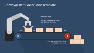 Flat conveyor belt powerpoint template slidemodel create an attractive way to show your business process use the flat conveyor belt powerpoint template illustrate cycles and procedures in the colorful toneelgroepblik Gallery