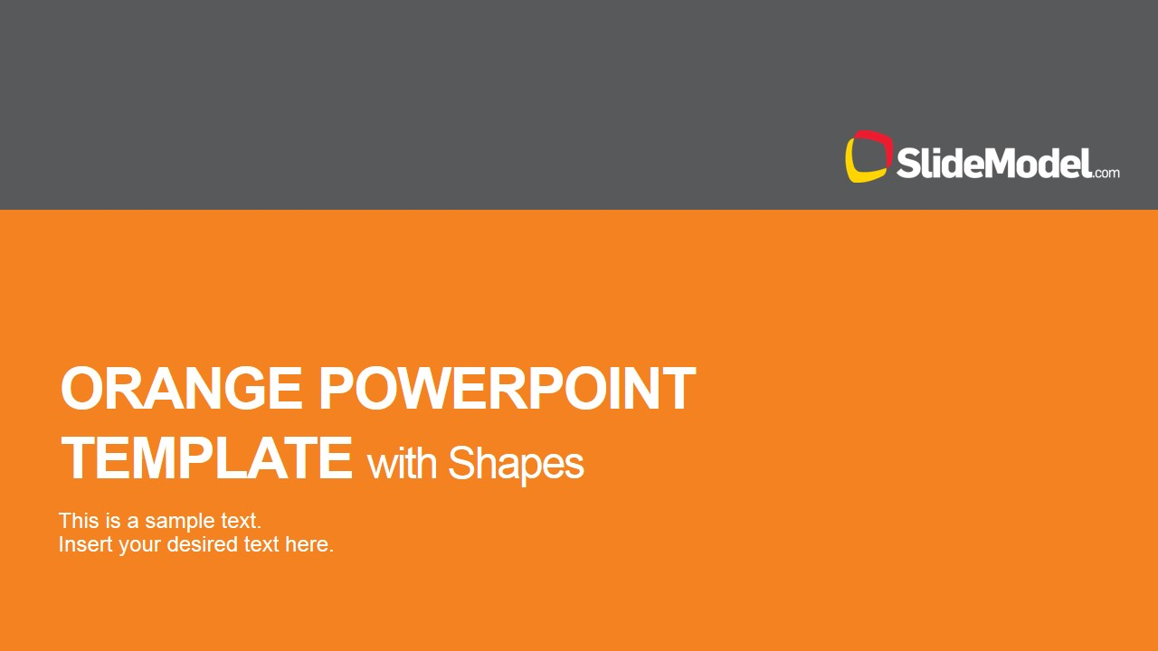 Orange powerpoint template with shape icons slidemodel powerpoint template featuring flat orange theme toneelgroepblik Images