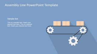 PowerPoint Shapes Conveyor Belt Assembly Line