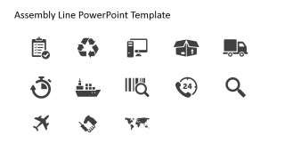 Professional PowerPoint Icons Logistics Theme
