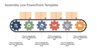 PowerPoint Clipart and Icons for Assembly Line Metaphor