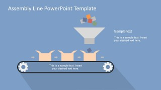 PowerPoint Shapes Assembly Line Funnel Scene