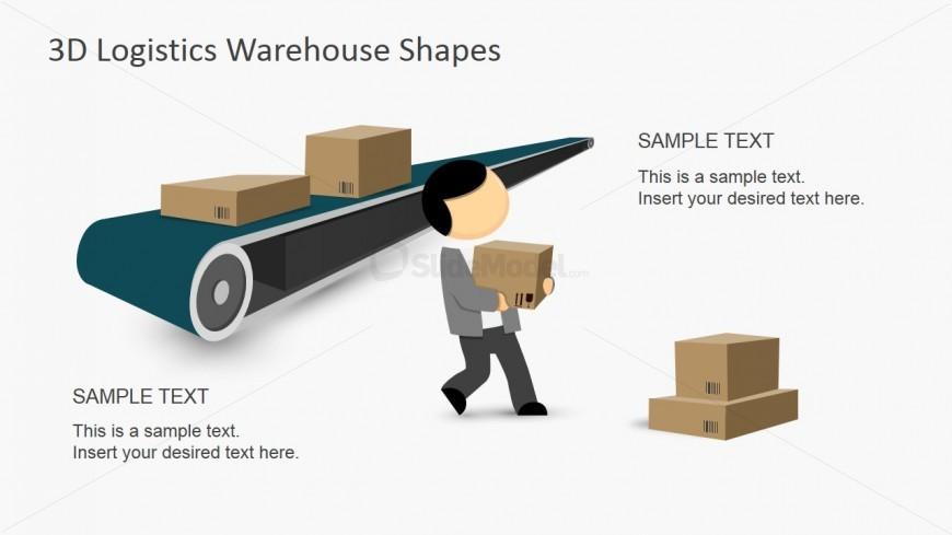 PPT Clipart Shapes 3D Conveyor Belt