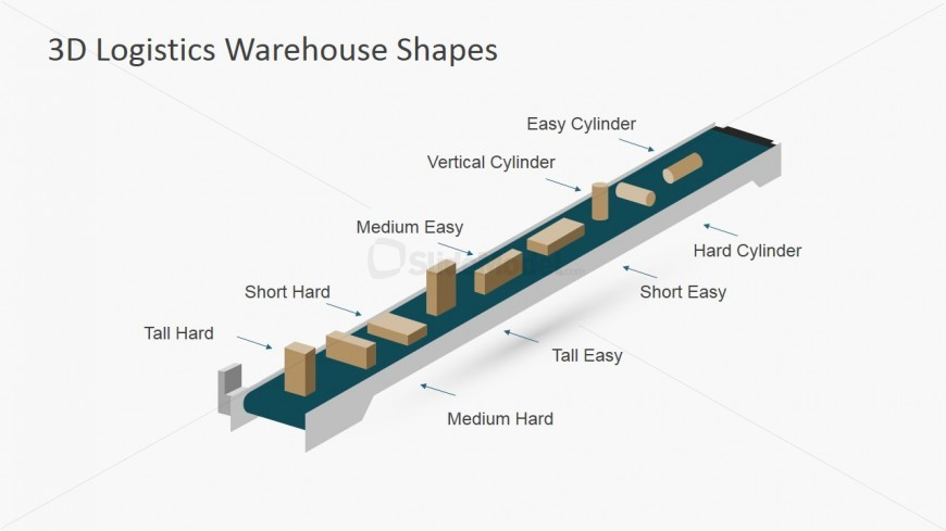 PPT Shapes Skyview 3D Conveyor Belt