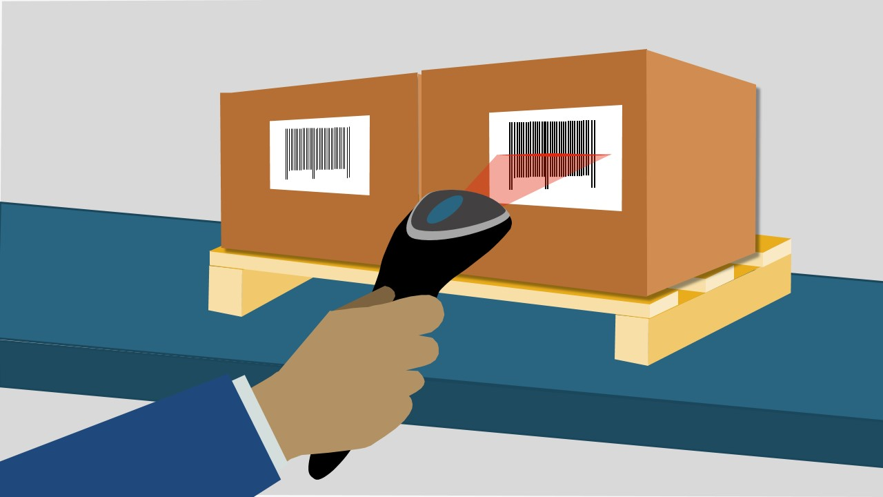 PPT Clipart Box and Barcode Reader
