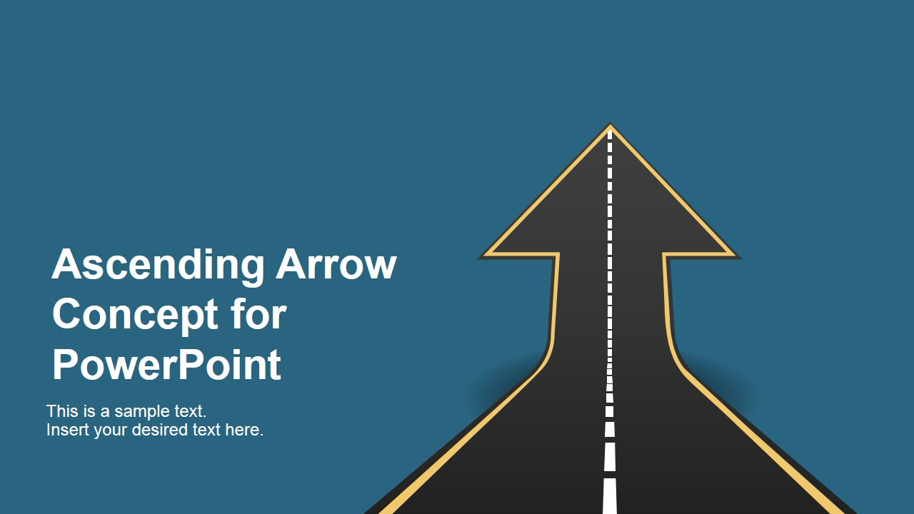 ascending road arrow concept for powerpoint