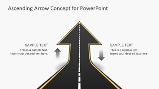 Straight Road Turning Ascending Arrow Picture