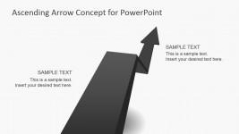 Asphalt Shape Design for PowerPoint with Rising Arrow