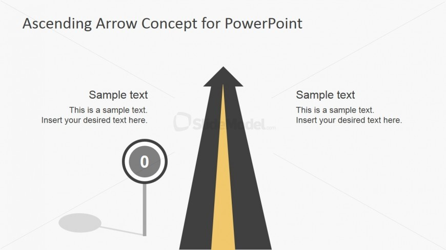 Straight Road Illustration for PowerPoint