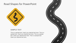 Risk Curve Road Slide Metaphor for PowerPoint