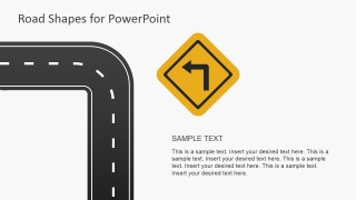 Turn Left Road Sign for PowerPoint