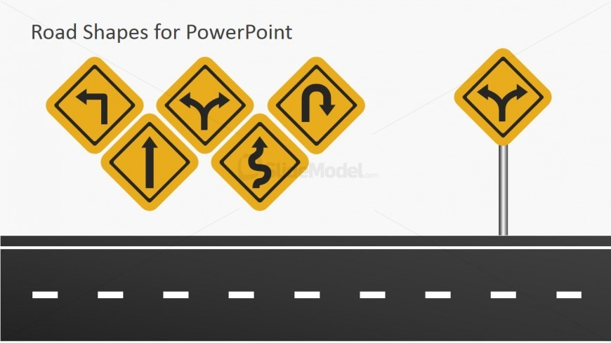 Road Symbols For Powerpoint Slidemodel