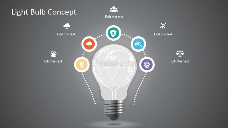 creative light bulb graphic for powerpoint slidemodel rh slidemodel com PowerPoint Presentation PowerPoint Eye Contact