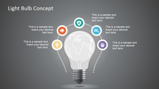 World Map & Light Bulb Design Concept