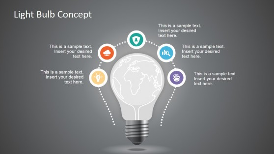 World Map & Light Bulb Design Concept