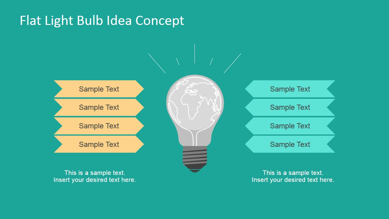 Light Bulb Graphic Concept for PowerPoint