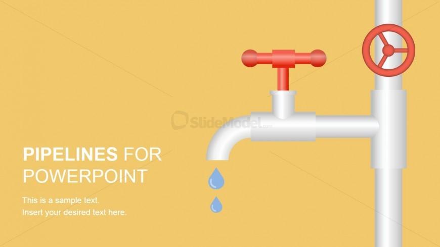 PowerPoint Leaking Tap PowerPoint Shape