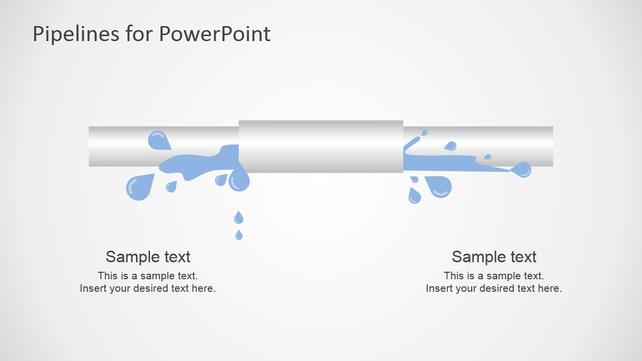 PowerPoint Tube Shape Leaking Pipeline