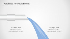 PowerPoint Pipeline with Water Flow Shapes