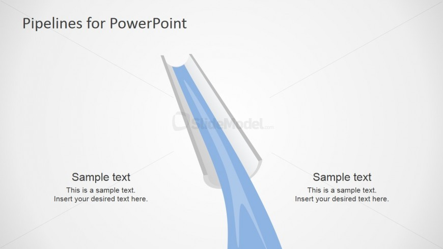 PowerPoint Pipeline and Water Shapes Transversal Cut View
