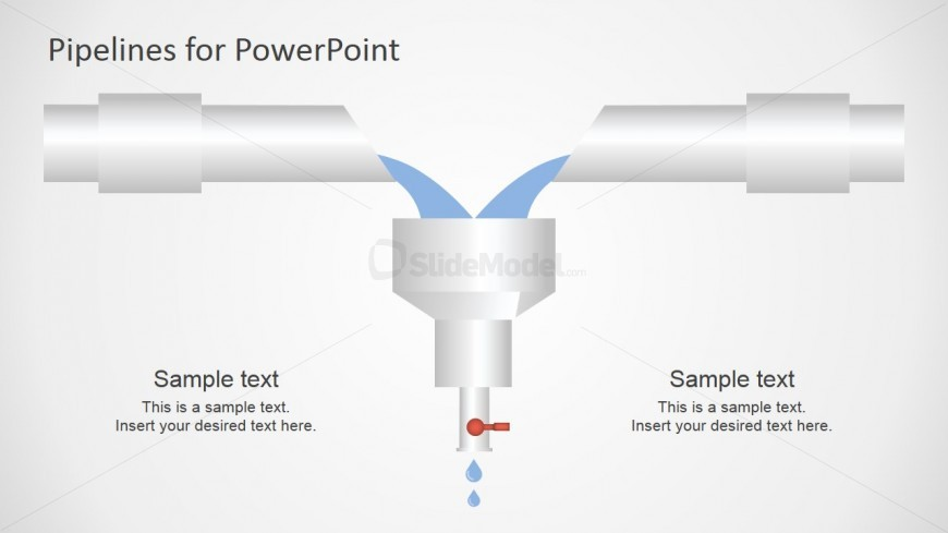 PowerPoint Shapes of Pipeline and Funnel