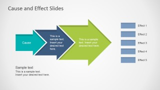 Cause & Effect Arrow with Multiple Effects