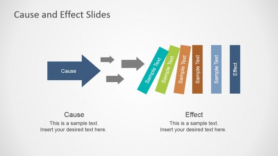 Cause & Multiple Effects Slide for PowerPoint