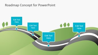 Creative Roadmap Concept PowerPoint Template