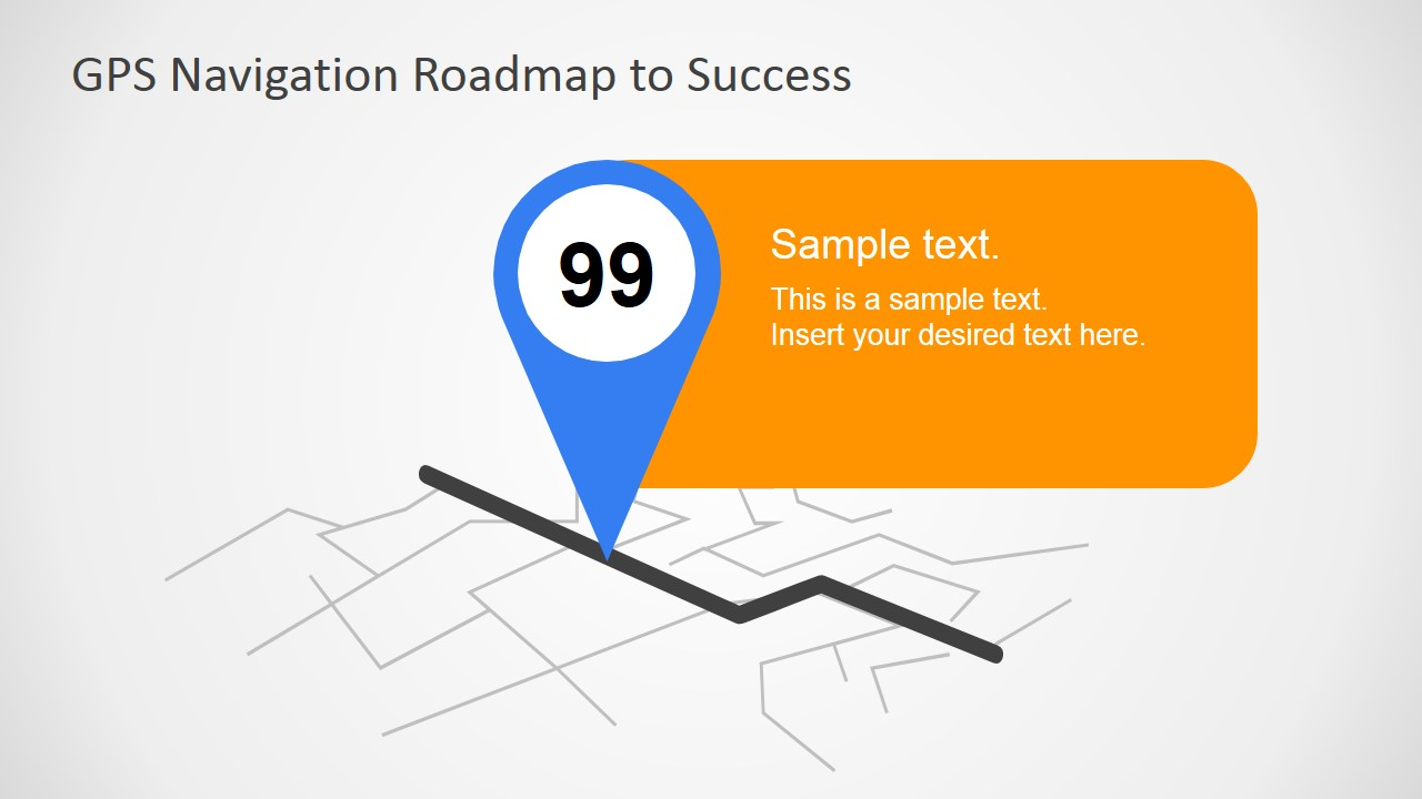 GPS Navigation Map Pointer Graphic