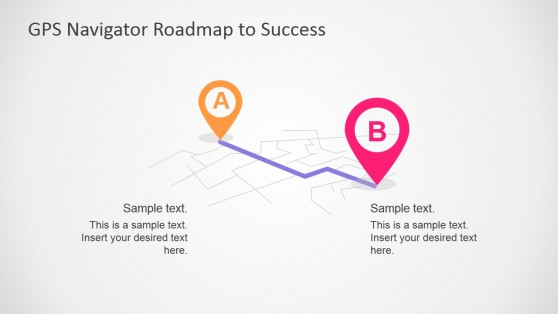 Flat Design 3D PowerPoint Map and GPS Location Markers