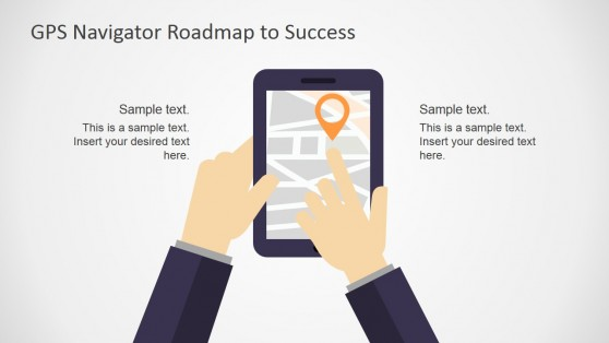 Tablet Device with GPS PowerPoint Shapes