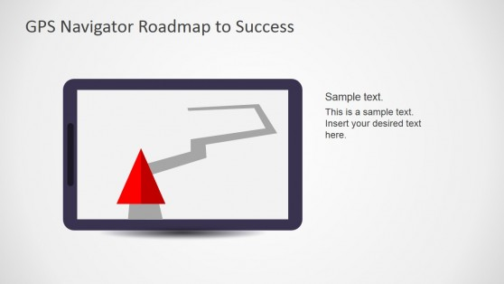 Tablet Device with GPS Traffic Navigation Scene