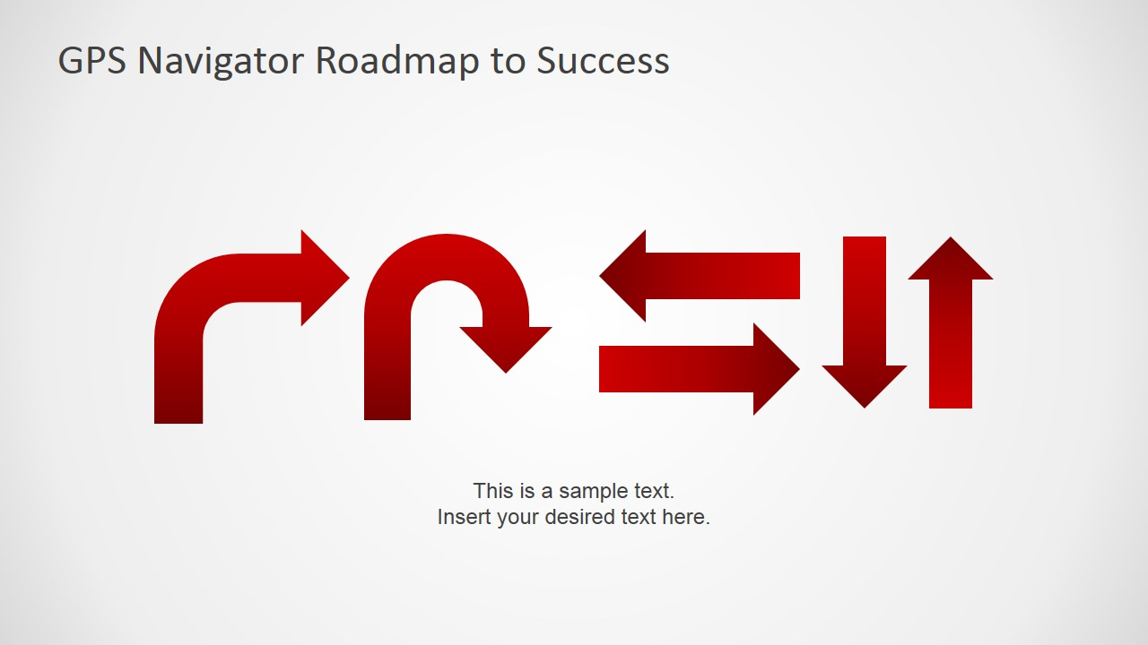 Gps navigator roadmap powerpoint template slidemodel powerpoint gps navigation signs icons alramifo Gallery