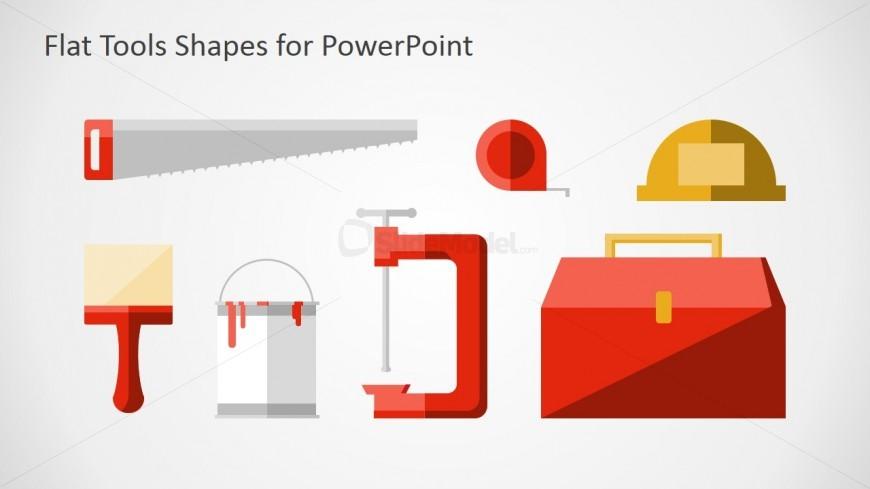 PowerPoint Flat Shapes Carpenters Handtools