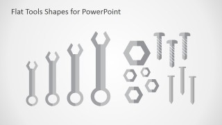 PowerPoint Shapes Wrenches Flat Design