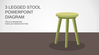 PowerPoint Shapes of 3 Legs Stool