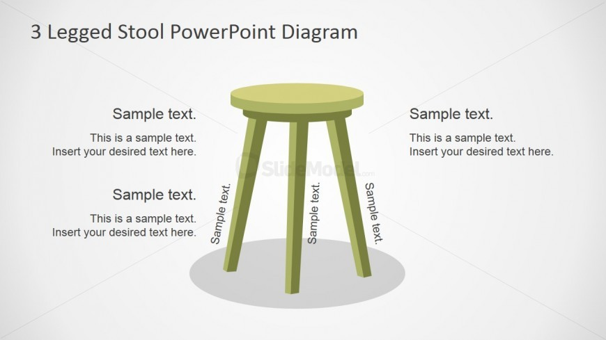 Three Legged Stool Shapes For Powerpoint Slidemodel