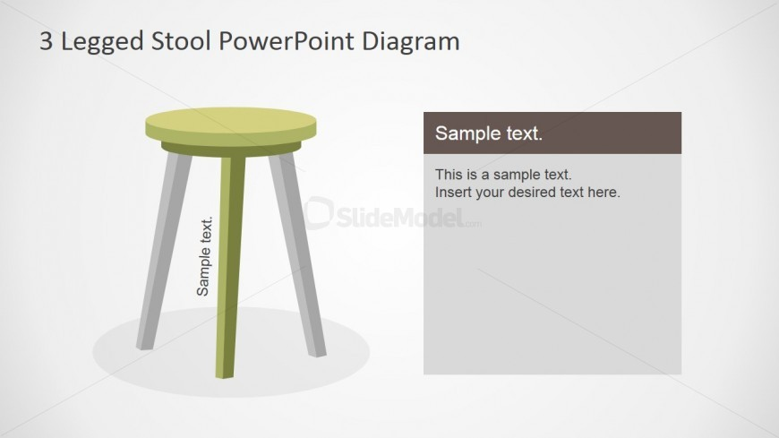 PowerPoint Shapes of Stool With 3 Legs