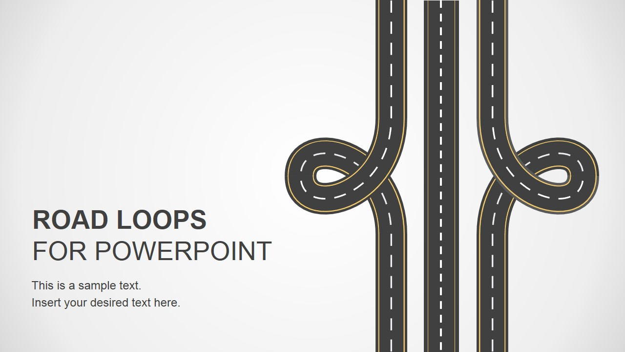 road loops powerpoint template - slidemodel, Modern powerpoint