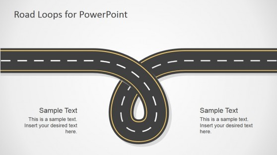 Road Loop Illustration for PowerPoint